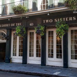 courts of two sister façade